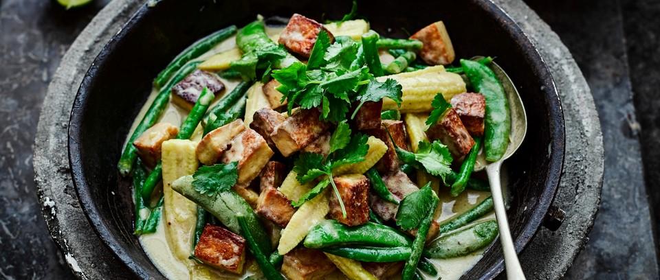 Recette du Curry vert thaïlandais au Tofu