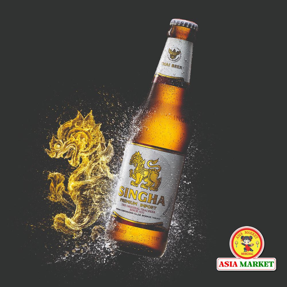 bière Singha thaïlandaise